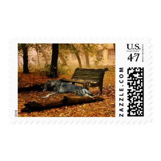 German Shepherd Full Stride Postage Stamp