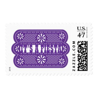 Papel Picado A Fiesta or Custom Message Stamps