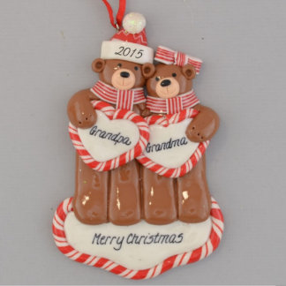 """Merry Christmas"" Bears Personalized Ornament"