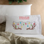 """Kids Reindeer Christmas Character Pillowcase<br><div class=""""desc"""">Make this holiday season truly special for the little ones with our Personalized Kids Christmas Pillows. An excellent choice when thinking about personalized gifts for kids,  choose from our Elf,  Santa,  Reindeer or Snowman. There is sure to be a character for everyone!</div>"""