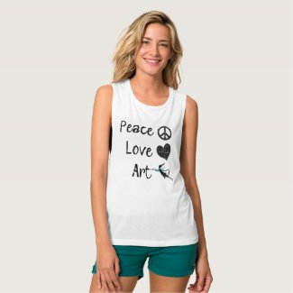 Peace Love Art Fairy Shirt
