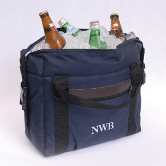 Personalized Navy Blue Soft-Sided Cooler