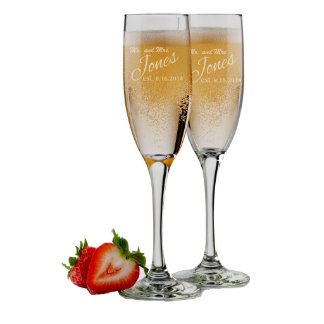 Bride and Groom Glasses, Set of 2