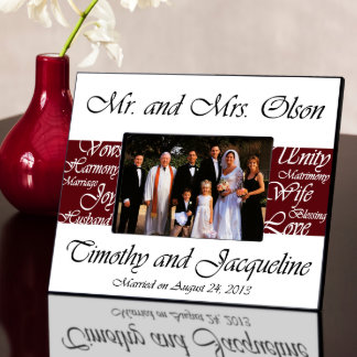 Wine Mr. and Mrs. Wedding Picture Frame