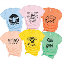 Sweet Printed Bee Kind Cotton & Polyester T-Shirt