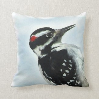 Hairy Woodpecker Pillow