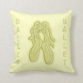 Yellow Ballet Slippers American Mojo Pillow