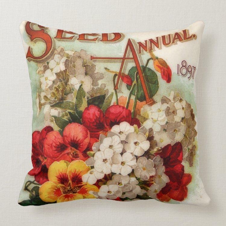 Flower Seed Annual DM Ferry Throw Pillow