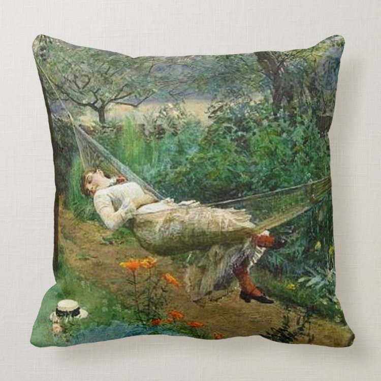 """""""In the Hammock"""" by Anders Zorn Pillow"""