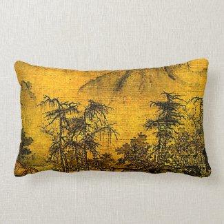 Ancient Landscape Lumbar Pillow