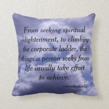 Effort to Achievement Throw Pillow