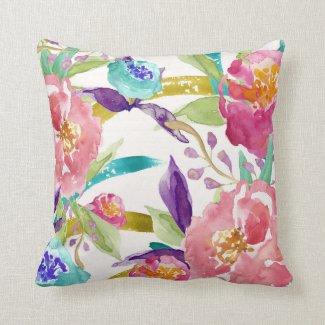 Garden Watercolor Pillow