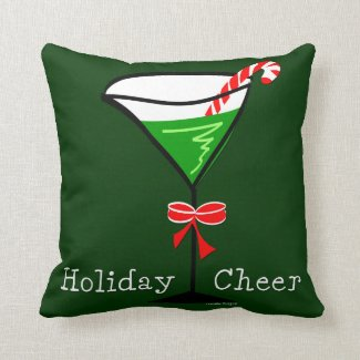 Christmas Martini Throw Pillow