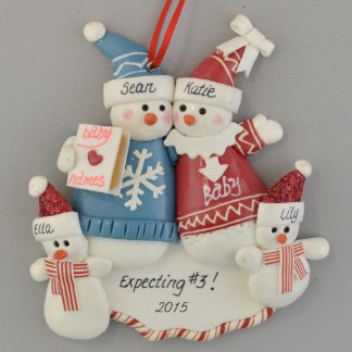 Expecting A Third Baby Personalized Ornament
