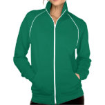 """<p>This best-selling California Fleece track jacket by American Apparel is extra thick for added warmth, yet it's breathable. Stay comfortable while walking, jogging, or hanging out outside with this jacket made of 100% extra soft ringspun combed cotton. Customize to make it your own!</p> <p>Size & Fit<p> <ul> <li> Model is 5'10"""" and wearing a medium</li> <li> Slim fit</li> <li> Garment is unisex. Women may prefer to order one size down.</li> </ul> <p>Fabric & Care</p> <ul> <li> 100% California Fleece cotton construction</li> <li> Raglan sleeves and a kangaroo pocket</li>  <li> Contrast white piping and nylon zipper (zips to top of collar)</li> <li> Made in the USA</li> <li> Machine wash cold</li> </ul>"""