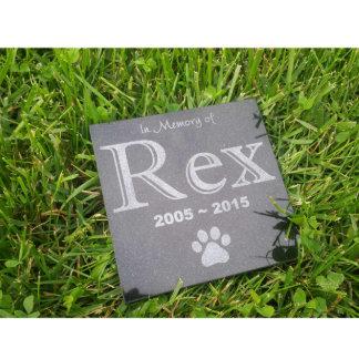 """Personalized 6""""x6"""" Granite Memorial Pet Stone"""