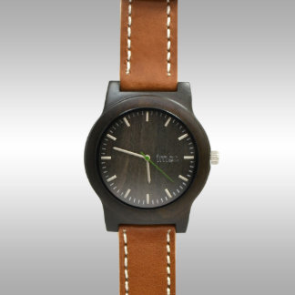 Custom Engraved Sandalwood Watch