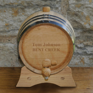 Personalized Whiskey Barrel - 2 Liter