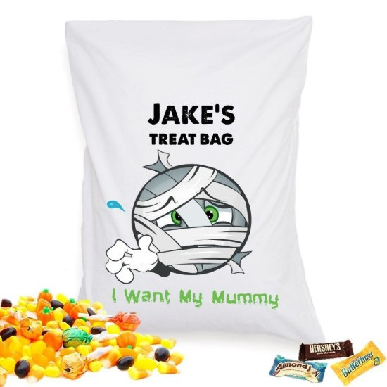 Halloween Treat Pillowcase - Mummy