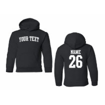 Custom Youth Hooded Sweatshirt, Arched Text