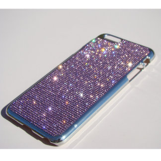 iPhone 6/6s Plus, Silver Chrome w/ Purple Crystals
