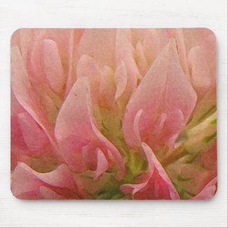 Pink Clover Mouse Pad