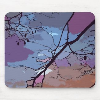 Sunset Abstract Mouse Pad