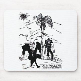palm walker print mouse pad