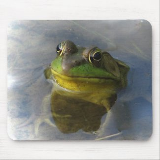 Frog with Attitude Mouse Pad