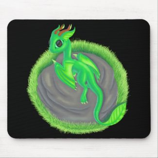 Forest dragon mouse pad