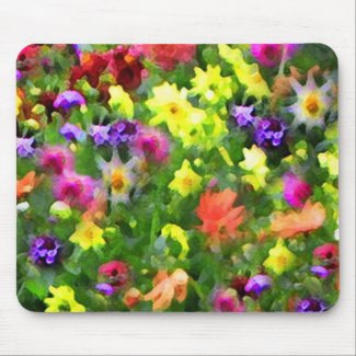 Floral Impressions Mouse Pad
