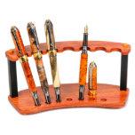 7 Pen Display Stand Bubinga Exotic Hardwood
