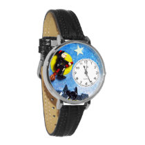Flying Witch Halloween Dangle Charm Watch