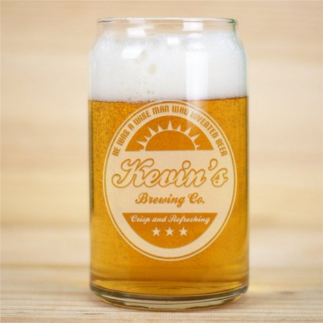 Stylish and Cool 16 oz. Can Shaped Beer Glass