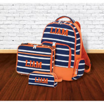 Set of 3 Embroidered Kids School Backpack Set