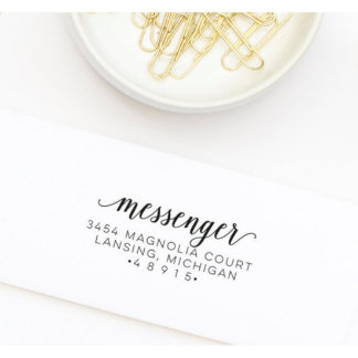 Personalized Return Address Stamp Style No. 83