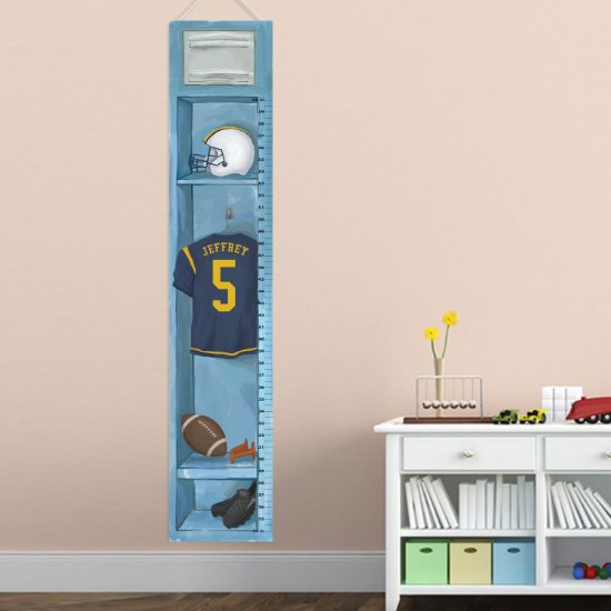 Personalized Sports Locker Growth Chart - Football