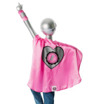 Youth Pink Superhero Costume with Heart