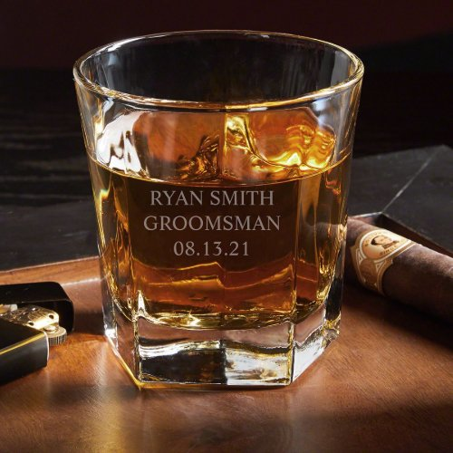 Must-Have Engraved Colchester Whiskey Glass