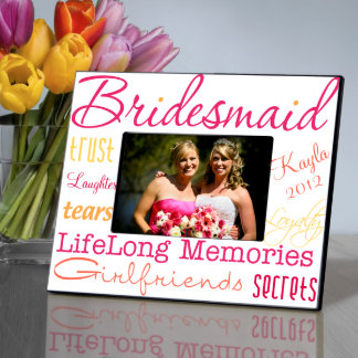 Personalized Honey Suckle Bridesmaid Picture Frame