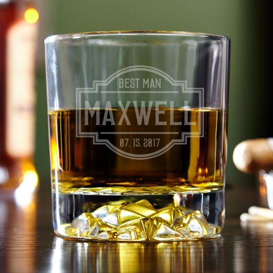 Engraved Fremont Fairbanks Whiskey Glass