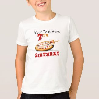 7th Birthday Pizza Party T-Shirt
