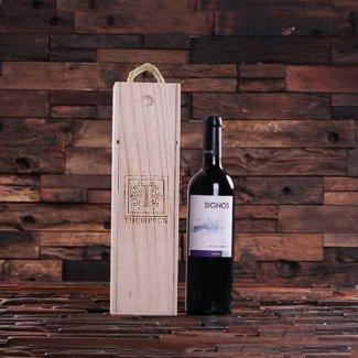 Personalized Single Bottle Wine Box