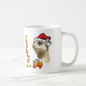 Christmas Meerkat Coffee Mug