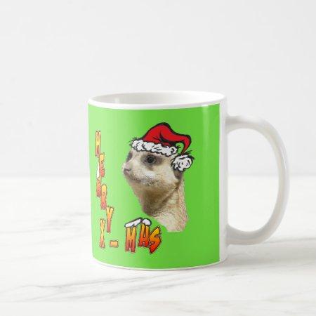 Christmas Meerkat Customizable Coffee Mug
