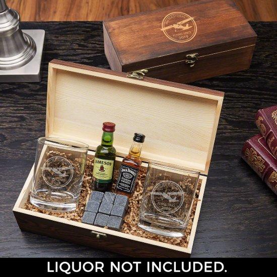 Drink Stones Gift Box & Aviator Whiskey Glasses