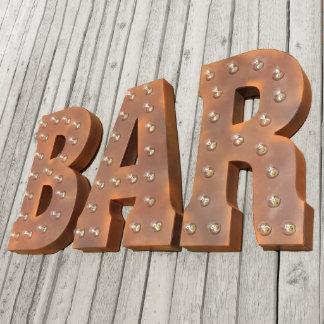 Custom 21 inch Rustic 'BAR' Vintage Marquee Sign