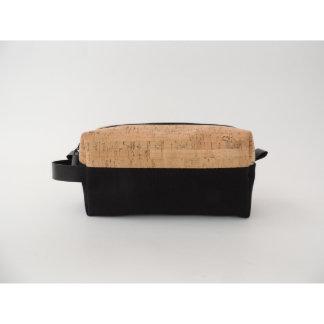 Cork Dash and Black Canvas Dopp Kit