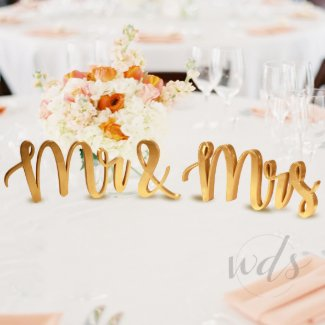 Mr & Mrs Sign, 5In. Wedding Sweetheart Table Decor