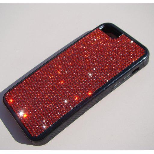 iPhone 5C Rubber Case w/Rhinestones